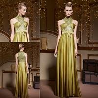 Wholesale Coniefox Elegant Halter Embroidered Formal Evening Dress for Slim Women