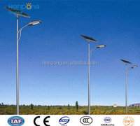 100W Led lamp 12M high outdoor street light , solar street light galvanized powder coated pole