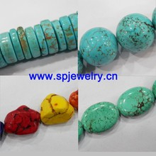 prices turquoise stone beads, round 4-20mm, many shapes for choice, 16-inch per strand