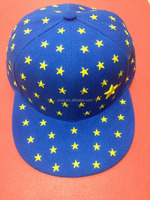 Blue flat cap with full star embroidery