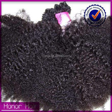 Most popular can be dyed magic golden supplier unprocessed virgin afro kinky bulk human hair wholesale