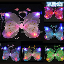 Wholesale cheap double layer fairy kids butterfly wings Halloween pink butterfly wing for sale