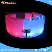 Supply all kinds of tall side LED table,modern high top bar LED table