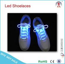 2015 Hot sell LED Flashing shoelaces / led light up shoelaces wholesale / led lighting shoelaces for party & dance show