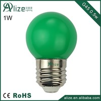 wholesale 2015 new plastic 1w christmas color led bulb