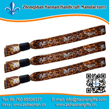 foot ball wristbands for events custom festival fabric wristbands for events