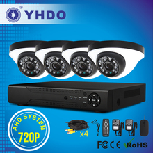 YHDO 2015 new products 4ch 720P AHD DVR kit HD with indoor dome cameras