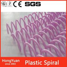 clip file folder plastic spiral wire , plastic spiral wire for binding , roll binding plastic spiral wire
