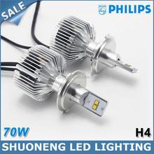 Philips New 70W Automotive LED Head Bulb/ 7000lm Lamp Automotive LED Head/P43T 9003 HB2 H4 Automotive LED Head Light