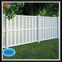 Used grey vinyl front cheap yard fencing