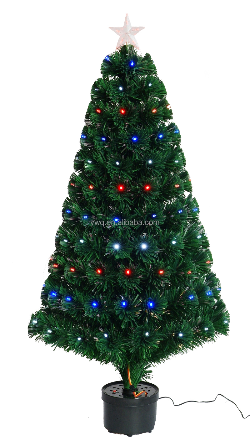 2.1m Christmas Tree With Optical Fiber Light Led Spiral Christmas ...