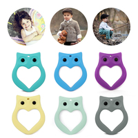 Promotion good quality OEM non-toxic safety silicone owl toys for baby teething