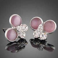 Square Stud Earrings with Austrian Crystals 2013 fashion jewelry 2013