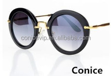 Women Sunglasses Europe and America style Uv400 Sunglasses Simple Metal frame lady Sunglasses