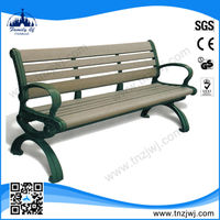 CE approved modern cast iron wooden cheap park benches