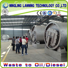 environmental friendly waste plastic/rubber/tyres pyrolysis plant with new cooling system hot selling in 2014