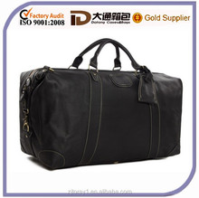 2015 Black Classic Style Large Wholesale Men Leather Travel Bag
