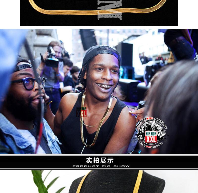 New Celebrity Style ASAP Rocky Pendant amp2mm24 Box