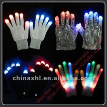 Multicolor led gloves for christmas/new year party