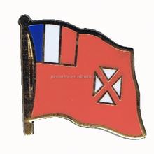 Wholesale souvenir Factory supply wallis national flag pin brooch
