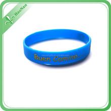 China Wholesale Custom thin silicone wristband