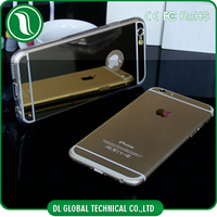 New Product Mobile Accessories electroplating TPU Mirror Cell Phone Case For iPhone 6 Case Mirror TPU Phone Case For iPhone 6