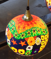 colorful hand painted glass lamp shades
