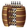 Liquor barrel display showcase for french wine, opened barrel rack cabinet for grape wine