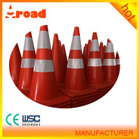 No damage for vehicle tire 70 cm pvc road traffic cone