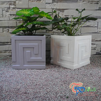 Beautiful Square Resin Roof Garden Plants
