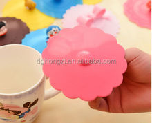 Factory Hot Promotions 100% safe food grade silicone cup lid,fancy coffee cups silicone lid,cartoon cute silicone cup lid cover