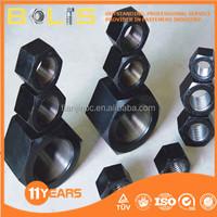 DIN934 grade 8 black oxide hex. nut