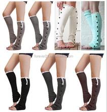 2014 wholesale boot socks, white-lace- boot-socks, winter knitting leg warmers