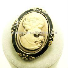 fashion alloy portrait brooch pin