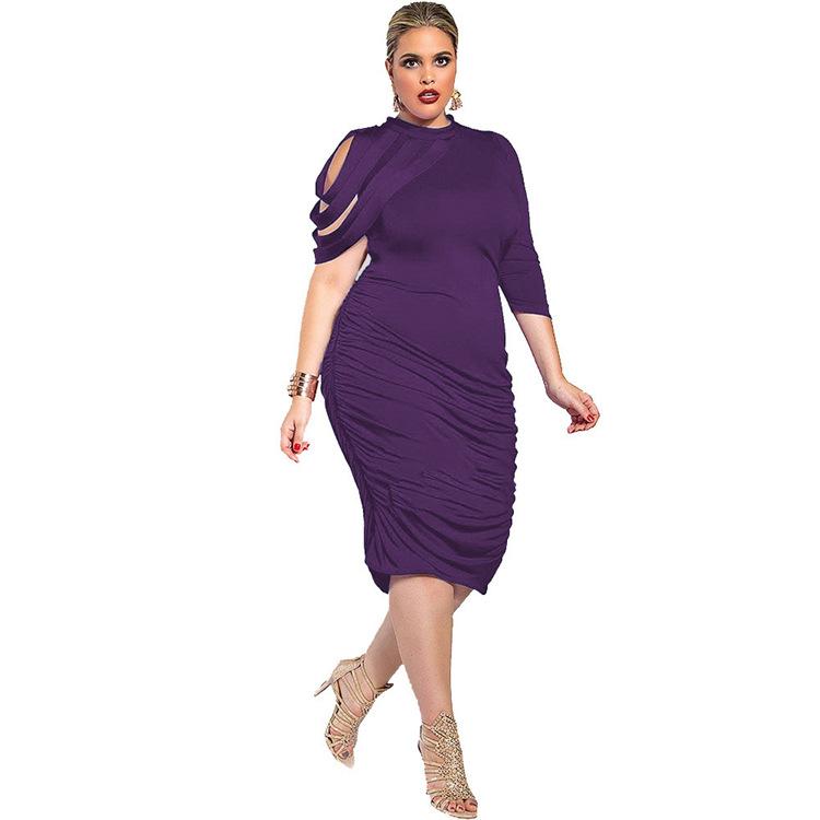 Para la grasa mujeres rodilla-longitud retro elegante damas Oficina ...