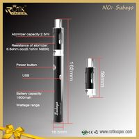 50 Watts Temperature Control, Vape Kit With, Extra Coil & Drip Tip Extention Mega Starter Kit