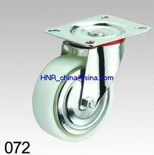 white pp & nylon wheel industrial caster wheel swivel or fixed or swivel with brake