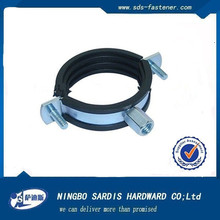 Ningbo manufacture supplier high quallity best price Hinged Pipe clamp with rubber lining china supplier