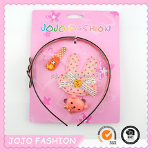 2015 wholesale cute bear hair accessory set for baby girls
