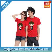 Custom Cartoon Couple Led T-shirt Korea Design Made In China