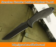 Black Blade No.1 Hunting Knife Plastic handle Outdoor Knives with Nylon Sheath 4893