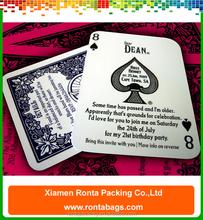 Custom Invitation Card Design Birthday Invitation Cards Poker Printing