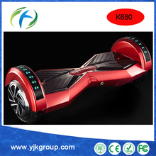 Hover board k680 2 wheels red with bluetooth and LED and keys smart self balancing electric scooter 2 wheels monorover