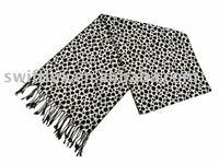 Wool scarf, reversible pashmina shawl, handmade scarf