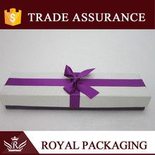 Fresh purple ribbon art paper jewel box gift box for bracelet pendant jewelry packaging