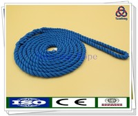 "Twisted nylon dock line 3/8""x15' in blue"
