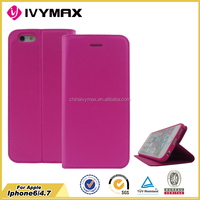 New products leather case for iphone 6 PU+TPU wholesale cell phone case