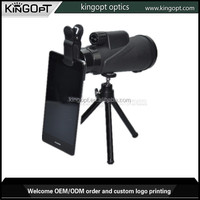 8X42 wide angle monocular used for taking photo with tripod