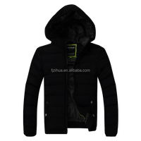 New manufacturer Men's Short Slim leather jacket stiching Quilted hoody Cotton coat jacket