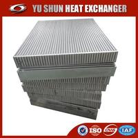 Hot selling OEM plate fin china aluminum intercooler core / intercooler core / radiator core